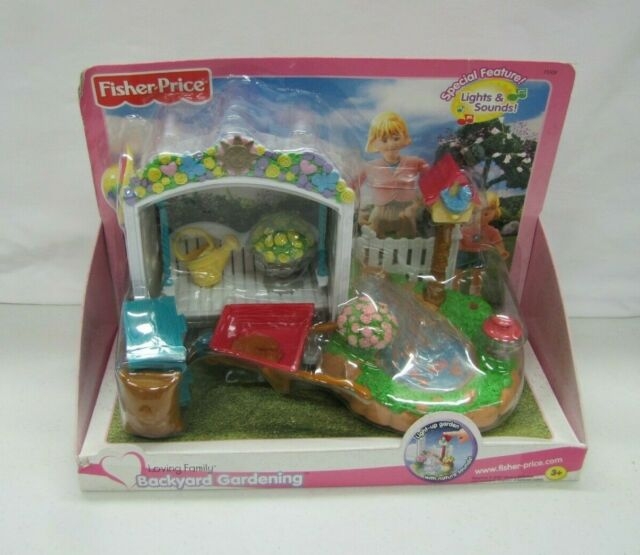 NEW Fisher Price Loving Family Dollhouse BACKYARD SET 2001
