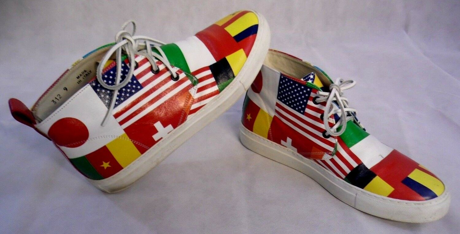 DEL Tgold chukka World Cup showing participating countries flags size mens 9