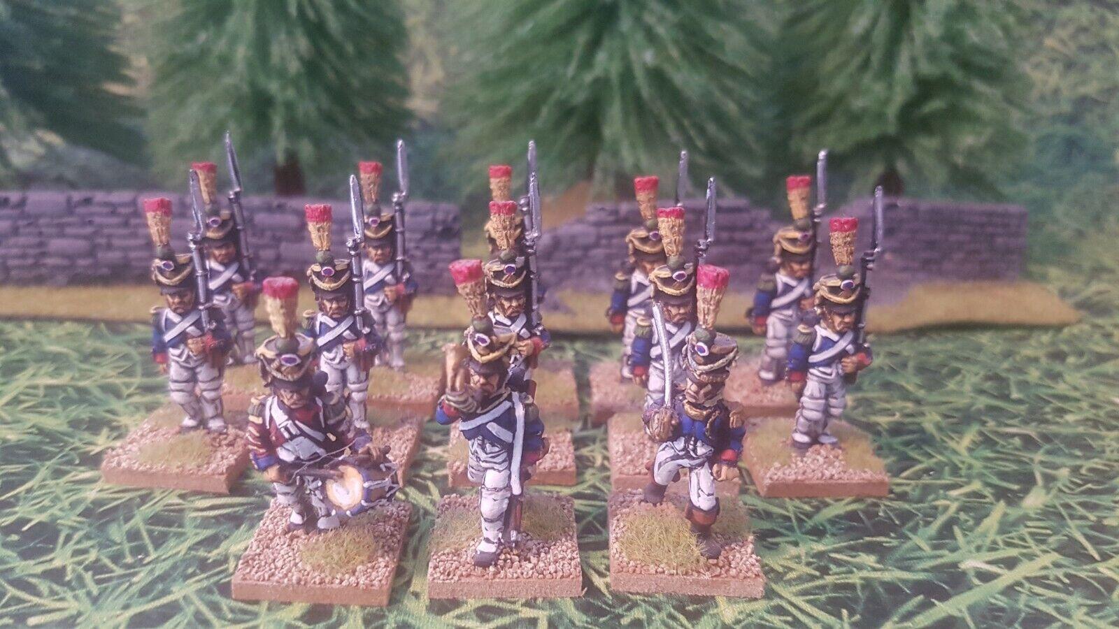 Napoleonkrigen  Franska 28mm Infanteri och kommando x13
