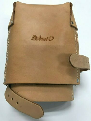 One Size Fits All Heavy Duty Knee Pad Natural Color Top Grain Leather