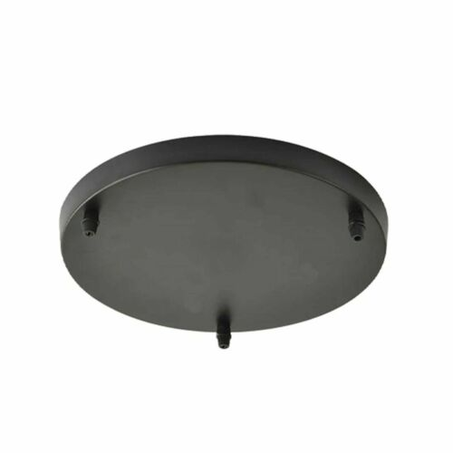 vintage industrial 3 outlet metal ceiling rose round rectangle for fabric cable
