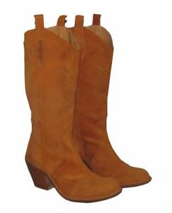 About Braun Stiefel Boots In Orange Lederstiefel Details Damen Killah Gr36 Western bf67Ygy