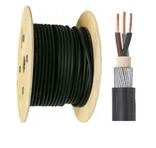 1.5mm 3 Core 50 Meter 6943X PVC Steel Wire Armoured Cable SWA Outdoor Cable