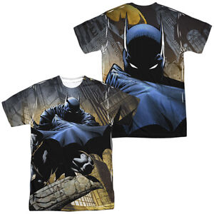 a57d16529fae7 Batman IN SHADOW 2-Sided Sublimated All Over Print Poly T-Shirt   eBay