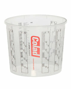 colcup1400 25 Cups Plus 5 Lids Diligent Colad 1.4l Solvent Proof Mixing Cups
