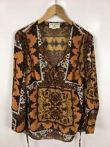 RICK-CARDONA-Damen-Bluse-Shirt-Groesse-40-Mehrfarbig-mit-Muster-sehr-schick