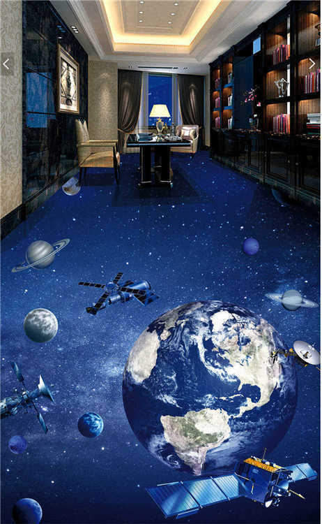Mysterious Universe Earth 3D Floor Mural Photo Flooring Wallpaper Home Printing