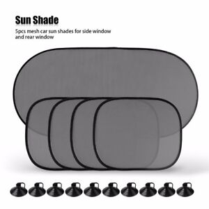 5-Pcs-Car-Window-Sun-Shade-Visor-Screen-Protector-Kids-Rear-Side-Blind-Black-UK