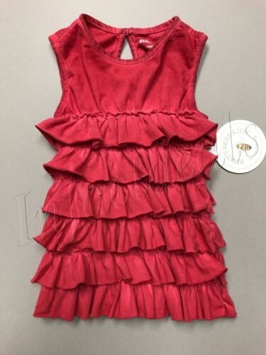 Burt/'s Bees Girl Kids Organic Cotton Sun-Bleached Tiered Top Tank in Red size 2T