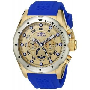 Invicta-Men-039-s-20307-Speedway-Stainless-Steel-Watch-With-Blue-PU-Band
