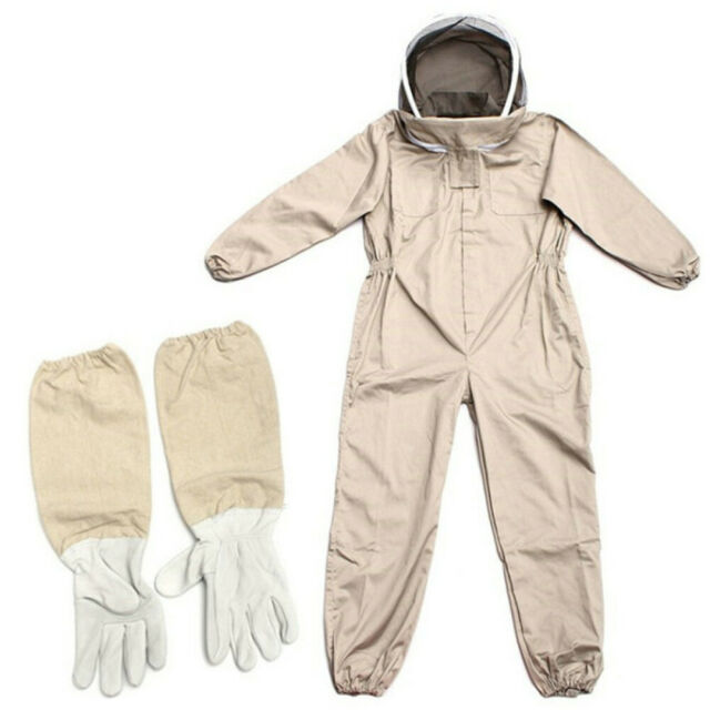 Unisex Ventilated Full Body Beekeeping Bee Keeping Protect Suit W// Glove Hat XL