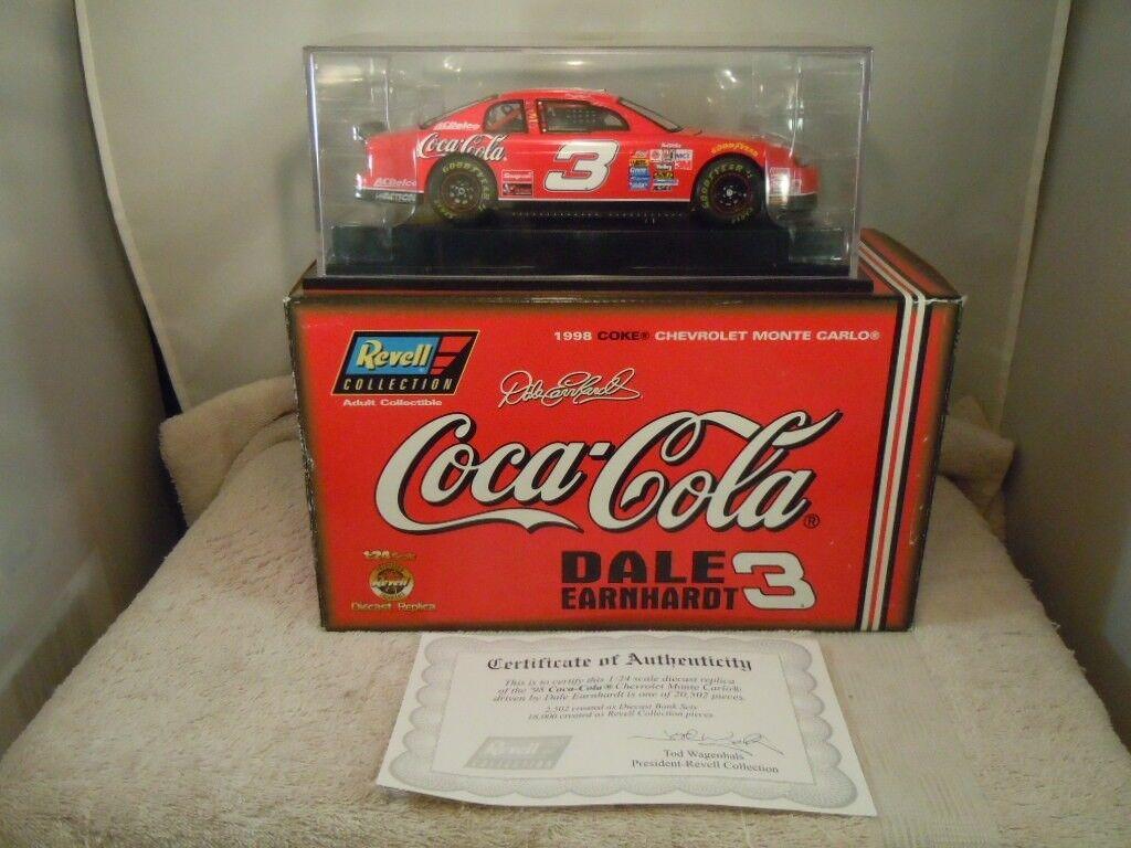 1998 Revell Coca Cola Dale Earnhardt Auto diecast escala  3 1 24 Con Caja