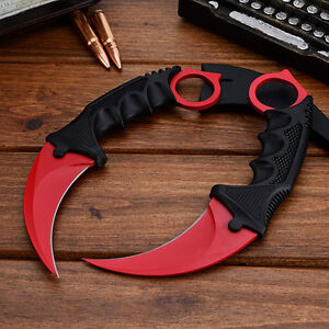 red csgo fade karambit cs go tooth doppler counter strike fixed blade knife ebay. Black Bedroom Furniture Sets. Home Design Ideas