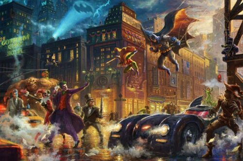 Thomas Kinkade Studios Dark Knight Saves Gotham City 18 x 27 LE S//N Paper