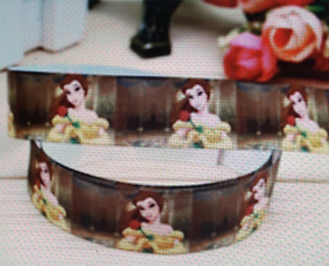 gâteaux Beauty and the Beast caractères 22 mm Ruban 1 m Cartes Artisanat