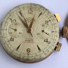 Vintage Silver Extra Chronograph Men's Watch Landeron 48 - Working