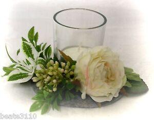 Tischdeko-Tischschmuck-Teelichtglas-Votivglas-dekoriert-Hochzeit-Taufe-Kommunion