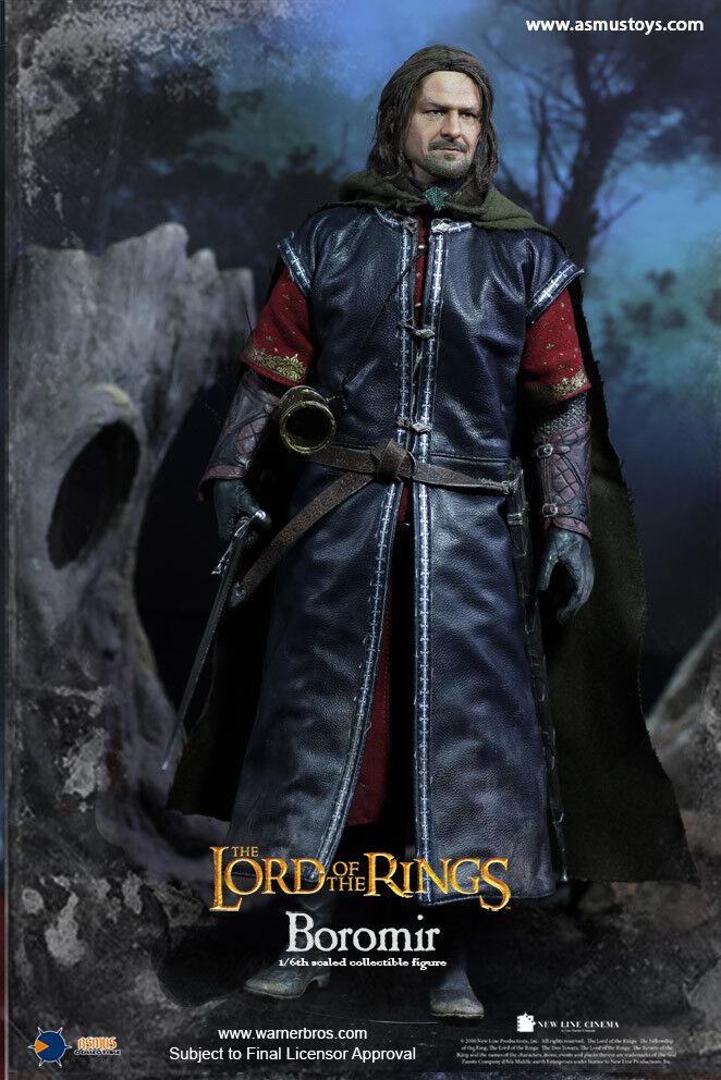 1 6 Asmus Juguetes el señor de los anillos 017 H El Señor De Los Anillos Boromir arraigado pelo Figura De Acción