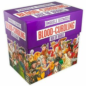 NEW-Horrible-Histories-Blood-Curdling-20-Books-Kids-Collection-Library-Box-Set