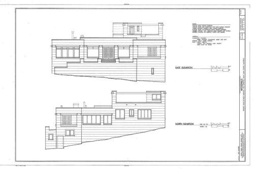 20th Century Shingle Style home plans Mid-Century Modern blueprints