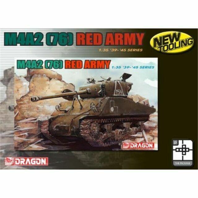 76 Red Army Sherman 1:35 Tank Model Kit DRAGON 6188 M4A2