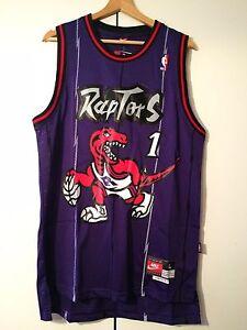 Maglia-canotta-NBA-basket-Tracy-McGrady-Jersey-Toronto-Raptors-New-S-M-L-XL-XXL