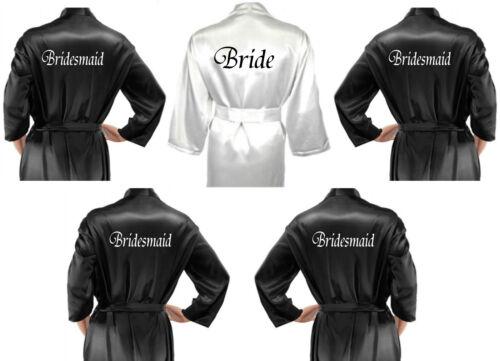 da nuziale sposa Multiple personalizzati Vestaglie Pack nera sposa in Abiti awq7dCC