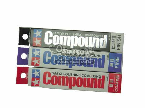 Tamiya Polishing Compound Set 87068 87069 87070 sd 3pcs set