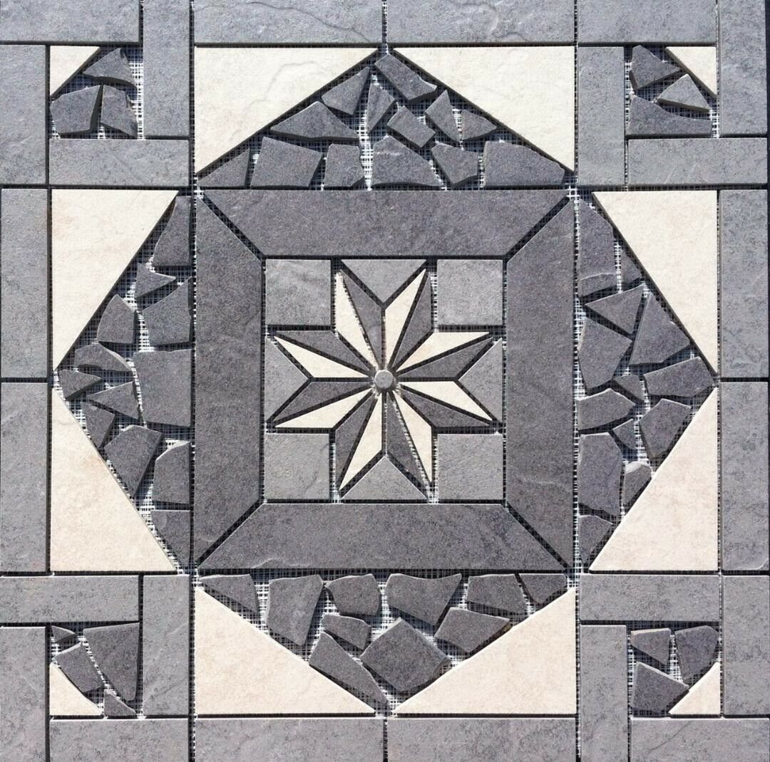 22 1 4  X 22 1 4  Tile Medallion - Daltile's Cliff Pointe tile series
