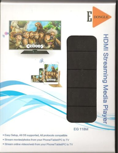 EDongle EG118M HDMI Streaming Media Player Stream from phone//tablet//pc to TV