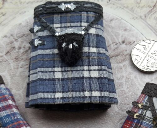 1:12th scale ~ men/'s scottish kilt ~ display~ hand made by suey