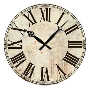 Estilo-Antiguo-Rustico-Pared-De-Madera-Reloj-Hogar-Shabby-Chic-Retro-Adornos