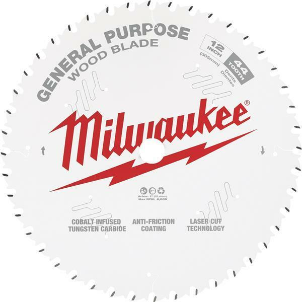 3 Pk Milwaukee 12  High-Performance 44-Tooth General Purpose Circular Saw Blade