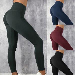 Femme-Legging-Pantalon-Fitness-Course-Gym-Extensible-Sport-Yoga-Push-Up-Confort