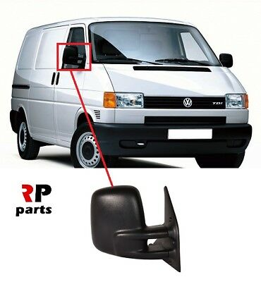 VW T4 TRANSPORTER 1990 2003 COMPLETE MANUAL WING MIRROR DRIVER RIGHT SIDE O//S