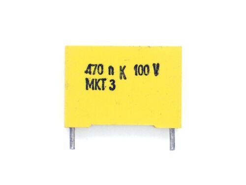 470 n K 100 V MKT 3 1x 470nf 100v 0,47µf, UF, 470nk100v, condensatore o233