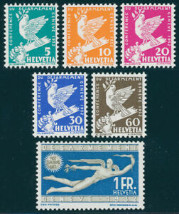 SCHWEIZ-1932-MiNr-250-255-250-55-tadellos-postfrisch-Mi-110
