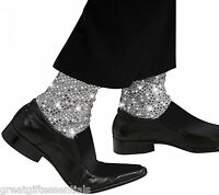 Michael Jackson Sparkle Socks Child Sock Covers Kids Sequin Costume Pop Star