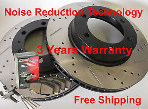 Fits-Tacoma-4x4-6-Lug-D-S-Brake-Rotors-Ceramic-Pads-Noise-Reduction-Technology