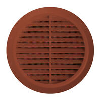 Circle Air Vent Grill Cover 125mm Ducting Brown Ventilation Cover Z-(20)