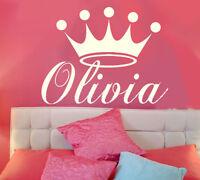 Princess Crown Personalized Vinyl Wall Decal Nursery Wall Art