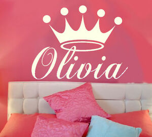 Princess Crown Personalized Vinyl Wall Decal Nursery Wall Art EBay - Personalized vinyl wall decals