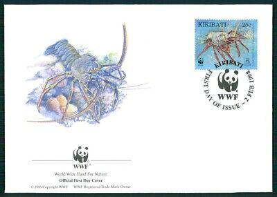 Kiribati Schmuck-fdc 1998 Wwf Fauna Dornenlanguste Lobster Langouste Em29