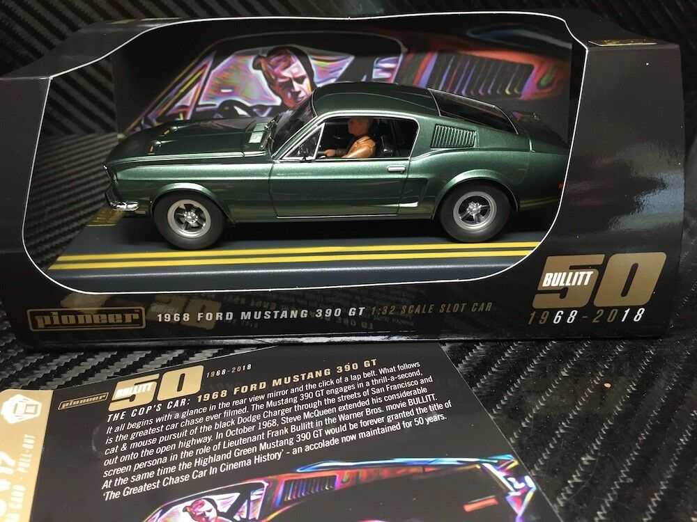Pioneer Bullitt Ford Mustang 390GT 50th Anniversary DPR 1 32 Scale Slot Car P085
