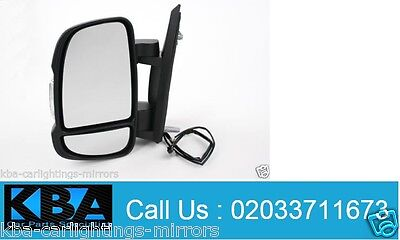 Left hand side whole heated wing door mirror unit for Citroen Relay 2006-2013