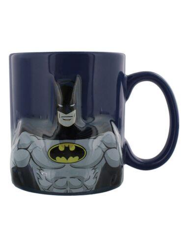 Batman Mug Embossed Logo /& Torso Dark Blue Ceramic Boxed Mug Ideal Gift Pack