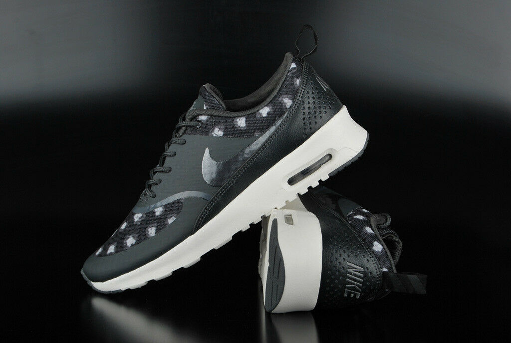 NIKE AIR MAX THEA PRINT PRINT PRINT BLACK DARK GREY ANTHRACITE SNEAKER SCHUHE TURNSCHUHE RUN 7c545f
