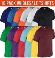 10 Pack Mens GILDAN T shirt Workwear Wholesale Bulk Job Lot Tshirt Top NEW Tees