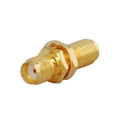 to SMA 8 Bulkhead Gold Adapters Female Female SMA