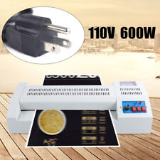 New Listing13lamination Machine Thermal Laminator 4 Roller Hot Cold Film Laminate Fast Us
